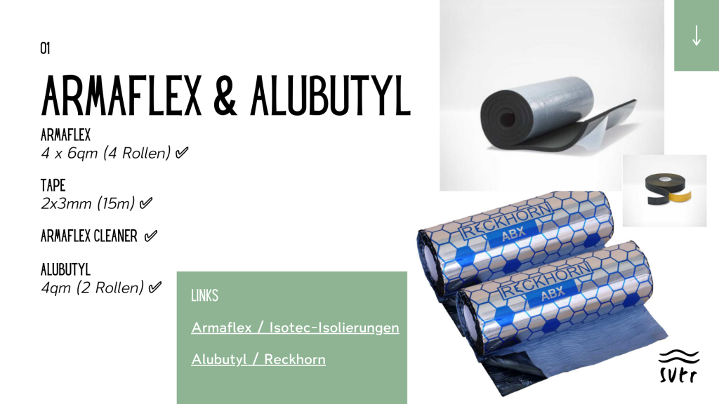 Informationen zum Armaflex & Alubutyl